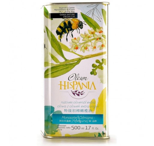 Oleum Hispania olive Oil. Arbequina. 500 ml. tin