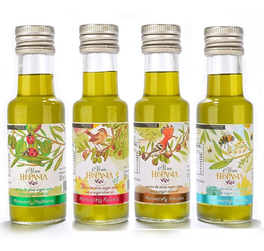 Oleum Hispania, four varieties. 125 ml.
