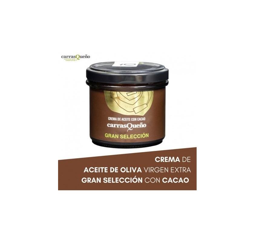 Crema de aceite con cacao Carrasqueño. 100 gr.
