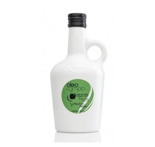Oleocampo premium.Variedad picual. Jarra 500 ml. Caja 12 uds.