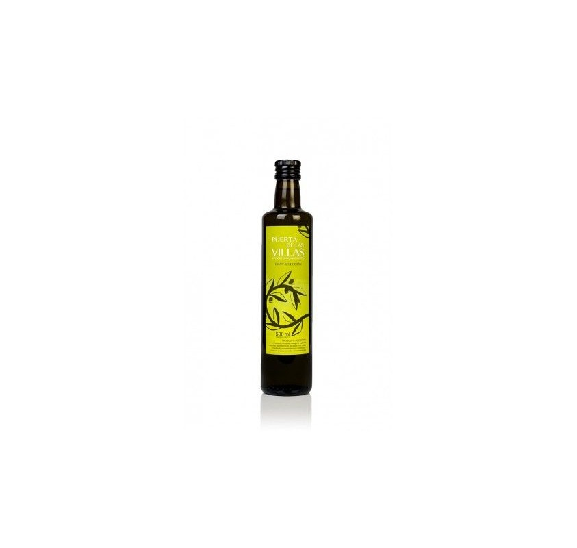 Extra virgin olive oil. Puerta de las Villas. Dorica bottle 500 mlX16