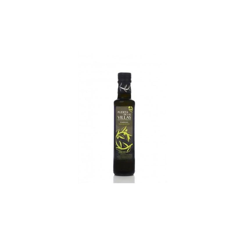 Extra virgin olive oil. Early harvest. Puerta de las Villas. Picual variety. 12X250 ml bottle glass Dorica