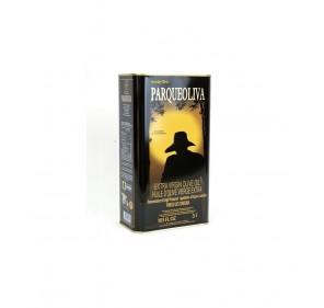 Parqueoliva. Serie Oro.Caja de cuatro latas de 3 litros