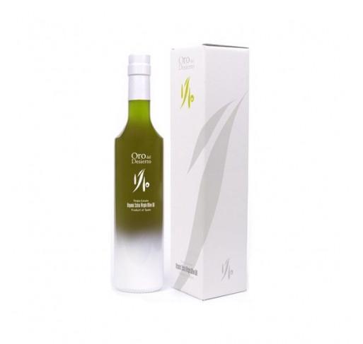 """Oro del Desierto. Aceite de oliva Ecológico.""""Edición limitada 1/10""""500 ml."""