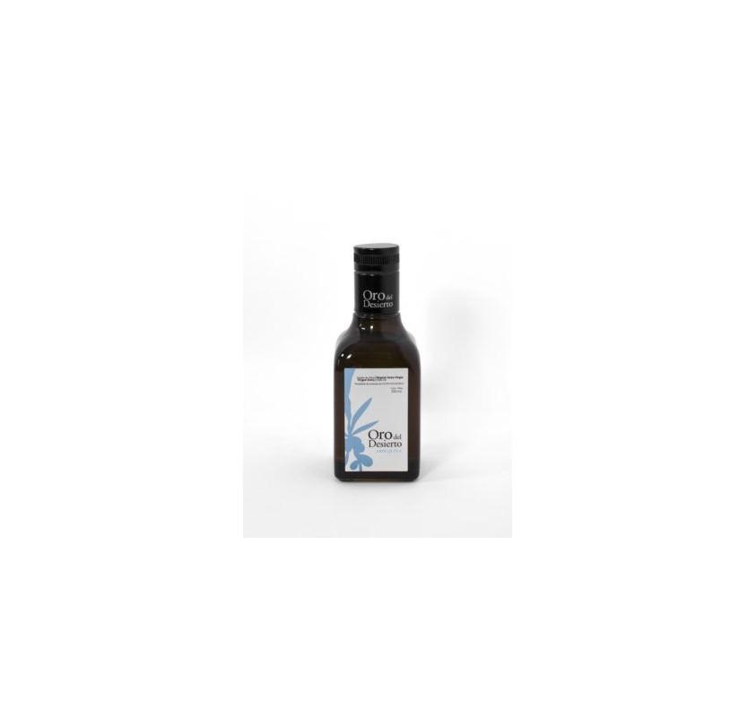Oro del Desierto. Aceite de oliva Ecológico. 250 ml. Caja de 12 uds.
