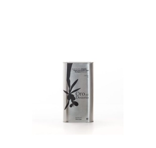 Oro del Desierto. Aceite de oliva Ecológico. Lata de 1 litro. Caja de 6 uds.