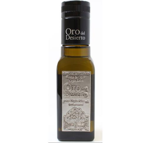 Oro del Desierto. Aceite de oliva Ecológico Coupage. 100 ml. Caja de 24 uds.