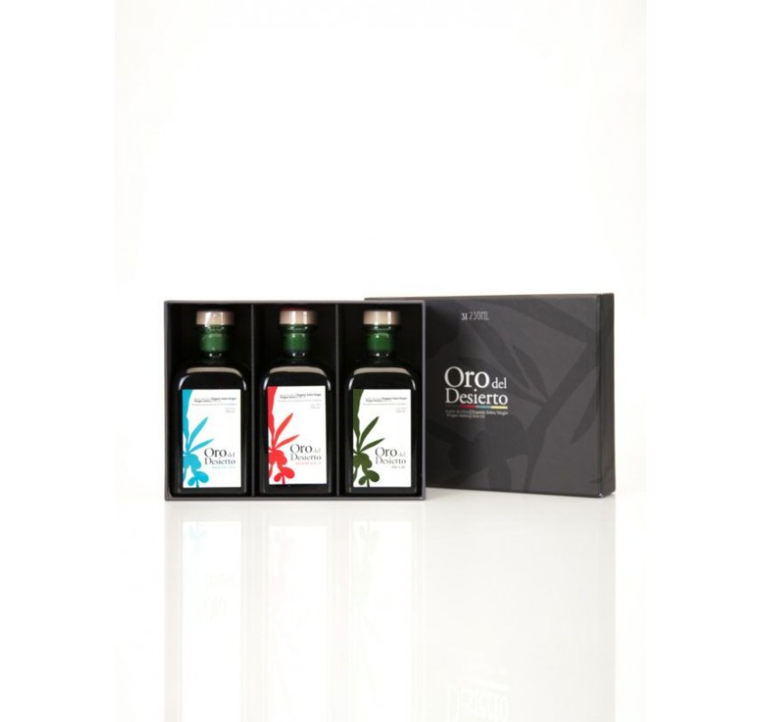 Oro del Desierto. Gift box. 3 bottles 500ml X10
