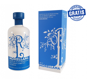 Morellana Picual. 500ML glass bottle + case. 6 bottles box.