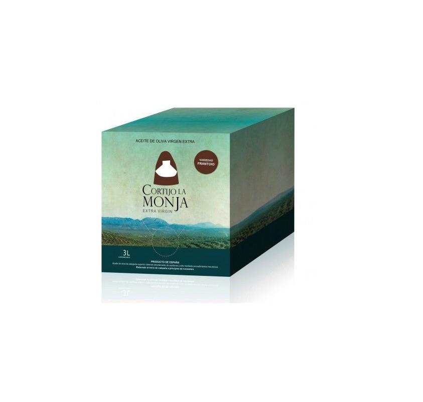 Cortijo la Monja. Aceite de oliva Arbequina. 2 botellas 3 Litros