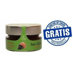 San Carlos Gourmet. Mermelada natural fresa con chocolate. Caja de 20 unidades.