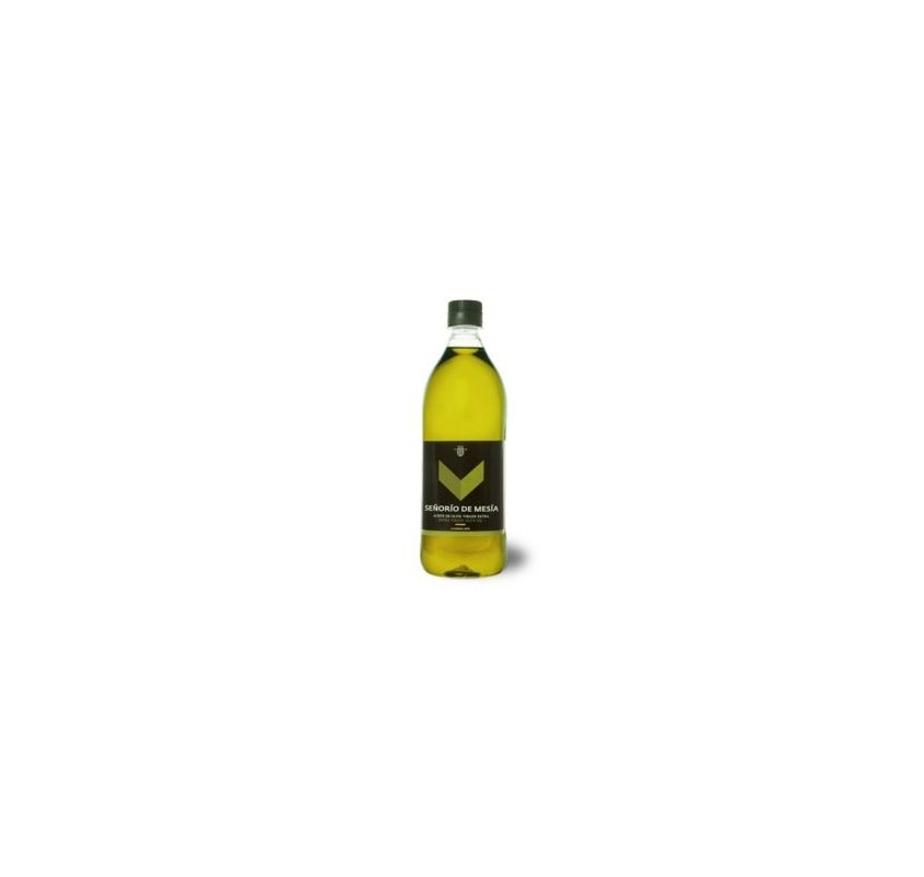 Señorío de Mesía. Aceite de oliva Picual. 1 litro. Caja de 15 unidades.