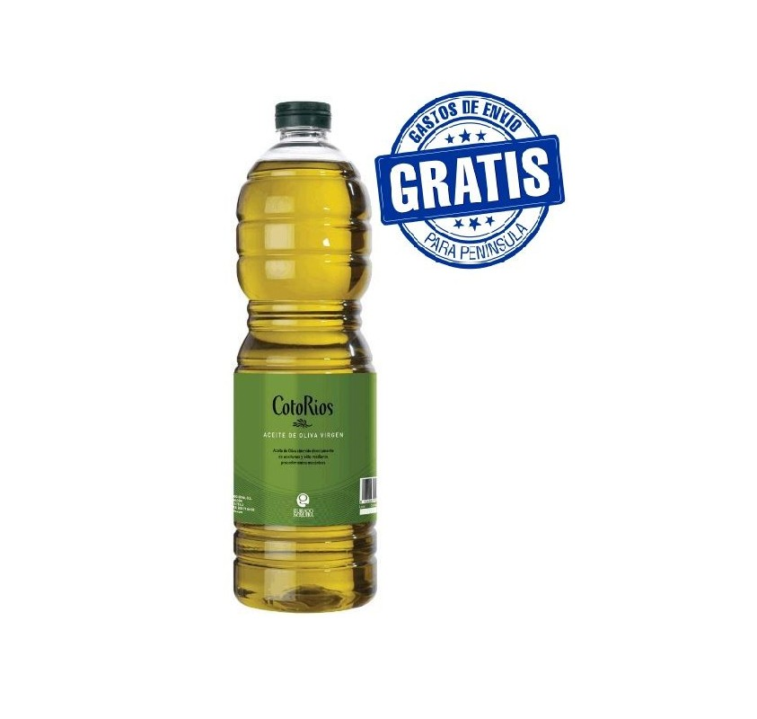 Coto Rios. Picual Olive oil. 15 Bottles of 1 Liter