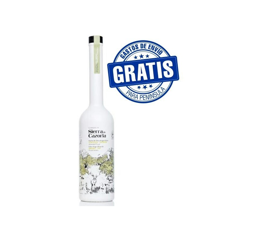 Sierra Cazorla. Ecologic EVOO. 500 ml glass bottle. Box of 6 bottles.