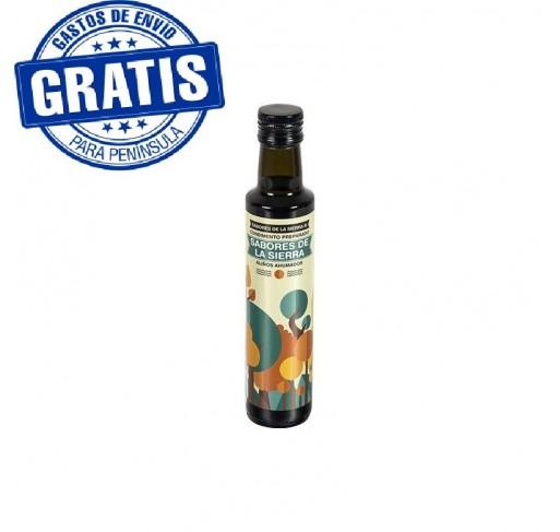 Sierra de Cazorla. Aceites ahumados y con sabores naturales. Botella de 250 ml. Caja de 12 unidades.