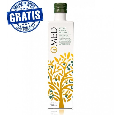 Omed. Edición Limitada. Aceite de oliva virgen extra rbequina. Caja de 9 unidades.