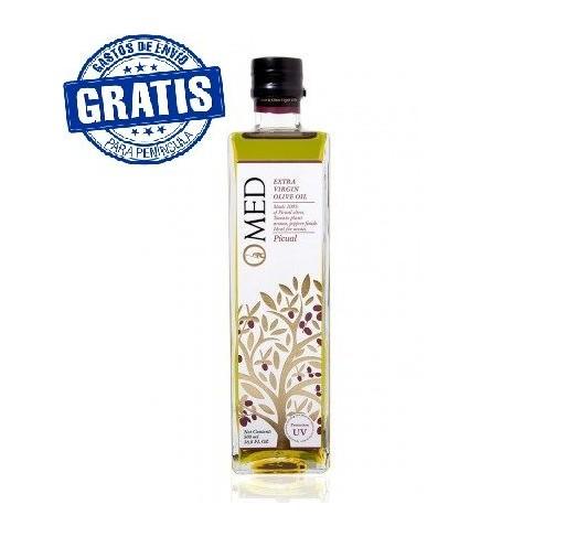 Omed. Aceite de oliva virgen extra Picual. Caja de 9 unidades.