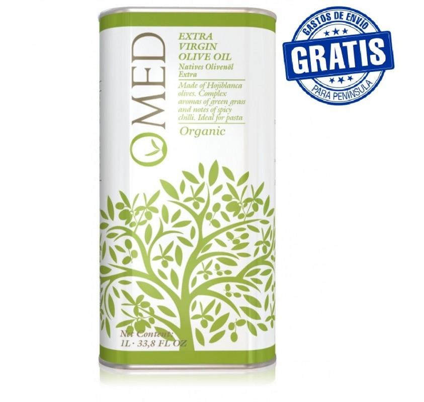 Omed Ecológico. Aceite de oliva Hojiblanca. 9 Latas de 1 Litro
