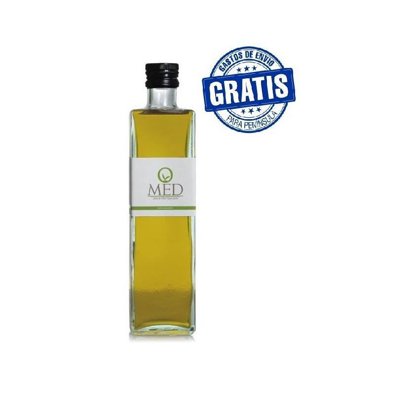 Omed Organic. Hojiblanca Olive oil. 500 ml bottle glass. Box of  9 bottles.