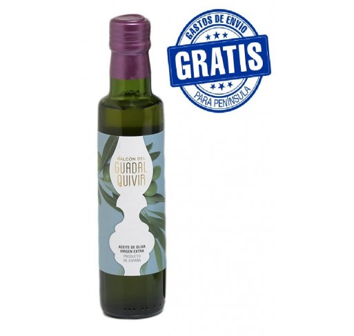 Balcon del Guadalquivir. Picual Olive oil. Box with 15 bottles of 250 ml