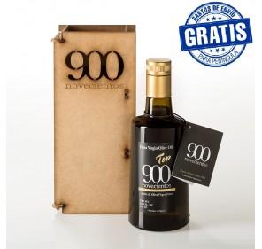 Top 900, 500 ml. Caja de madera.