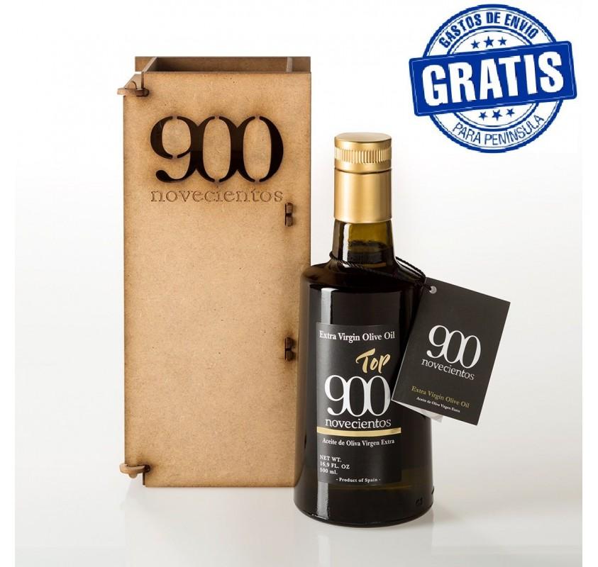 Top 900, 500 ml. Wood box.