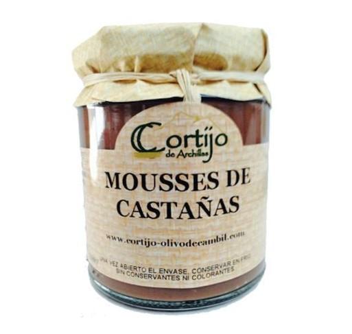 Mousse de castañas al chocolate. 275 gr.