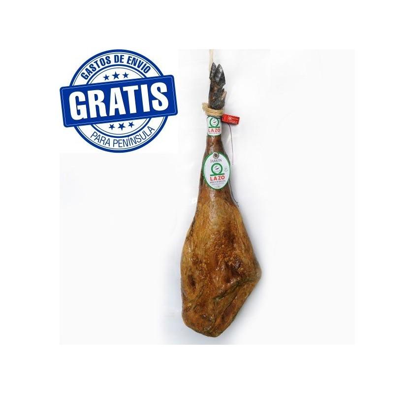 Iberian acorn-fed ham. Lazo
