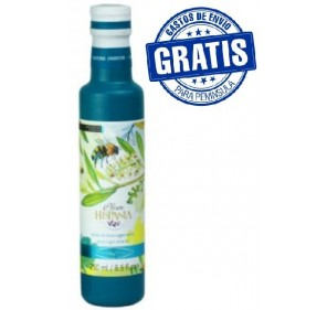 Oleum Hispania olive Oil. Arbequina. Glass bottle.