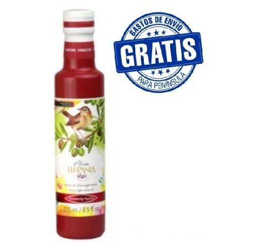 Oleum Hispania olive Oil. Pajarera variety. Glass bottle