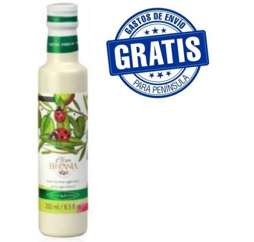 Oleum Hispania Hojiblanca. Botella de vidrio.