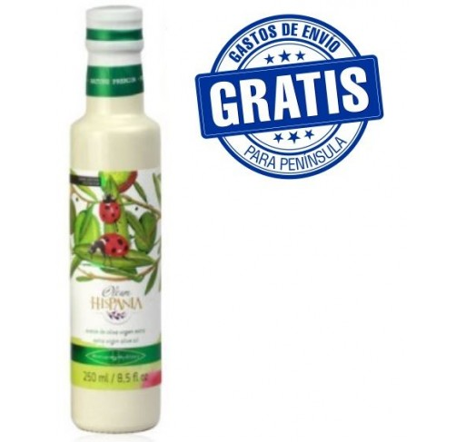 Oleum Hispania. Hojiblanca variety. Glass bottle..
