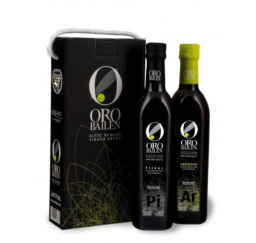 Estuche Oro Bailén. 2 botellas 500 ml.