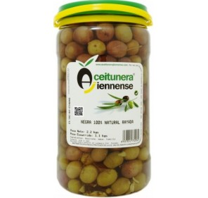 Natural Crushed black olives. 1.1 Kg