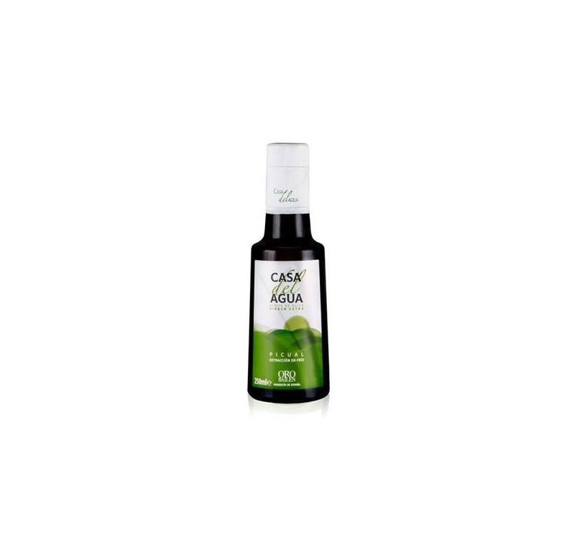 Extra virgin olive oil. Casa del Agua. 250 ml glass bottle.
