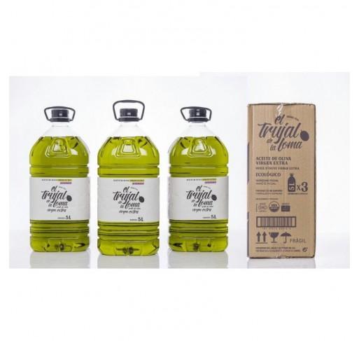 El trujal de la Loma Ecológico. Caja de 3 botellas PET 5L.