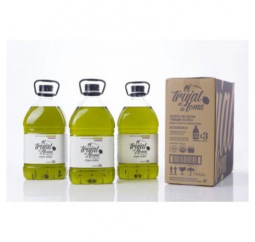 El trujal de la Loma Ecológico. Caja de 3 botellas PET 3L.