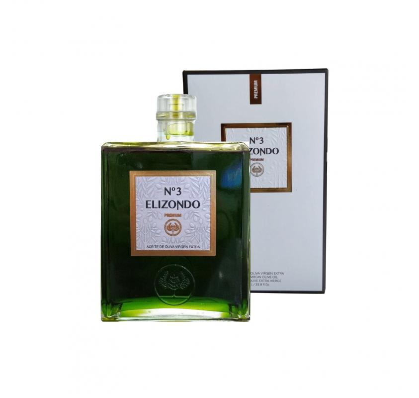Elizondo N.3. Aceite de oliva Picual. 6 Botellas de 1 Litro
