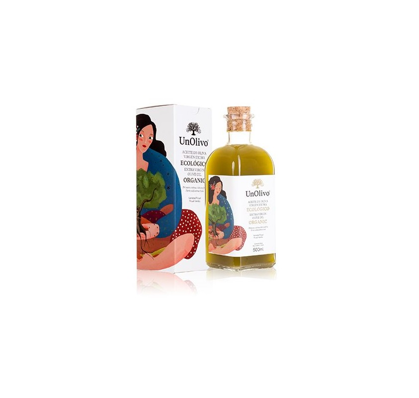 Aceite de oliva virgen extra Ecológico .Sin Filtrar Frasca Cristal 500ML
