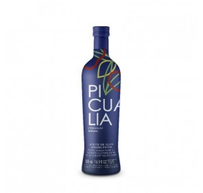 Picualia. Picual Olive oil. 500 ML glass bottle.