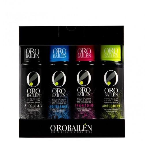 Oro Bailen. 4 varieties. 4 bottles x 100 ml