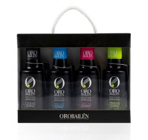 Oro Bailén. Window box of 4 varieties of 250 ml.