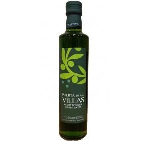 Extra virgin olive oil. Early harvest. Picual variety. Puerta de las Villas. 12X500 ml bottle glass