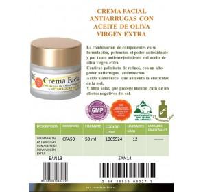 Crema facial antiarrugas con AOVE