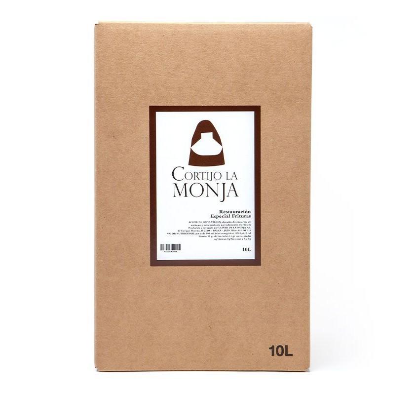 Cortijo la Monja. Aceite de oliva virgen extra. Box 10L. Especial Frituras.