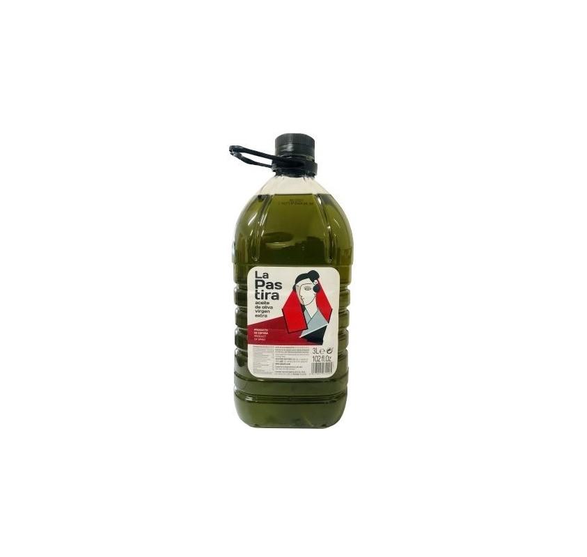 La Pastira. Aceite de oliva virgen extra. 3 garrafas x 3 Litros.