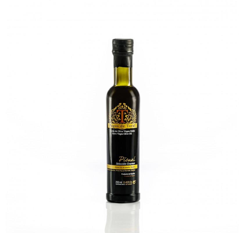 Pagos de Toral. Aceite de oliva Picual. 250 ml. Caja de 6 unidades.