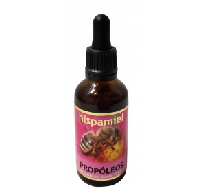 Propóleos hispamiel. 50 ml dropper bottle.
