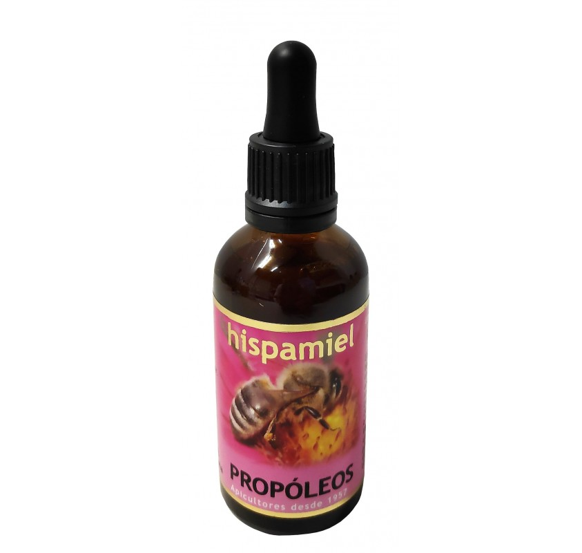 Propóleos hispamiel. 50 ml dropper bottle.