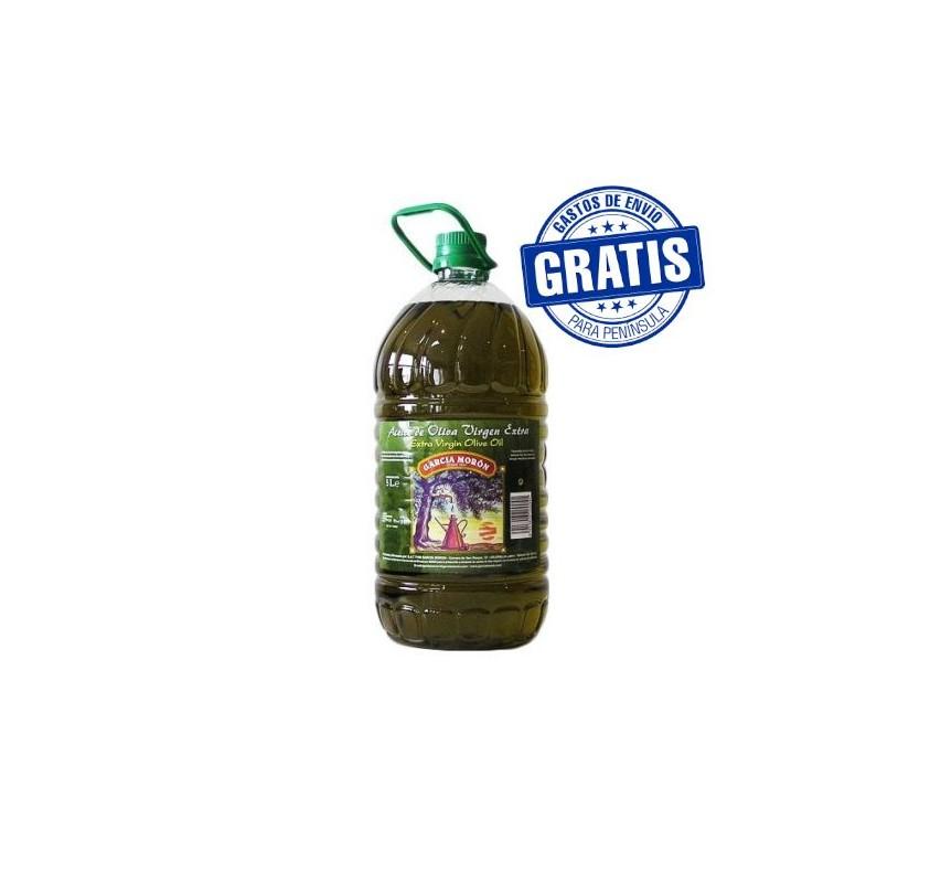 García Morón. Aceite de Oliva Picual. 3 Garrafas de 5 Litros